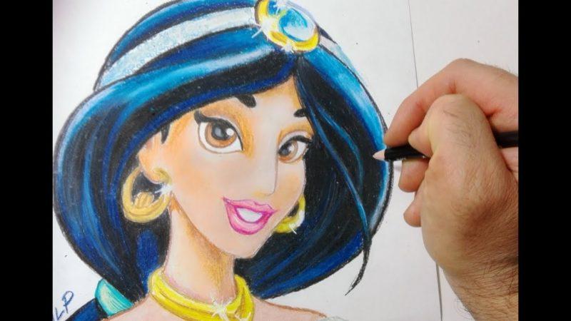 Come disegnare Jasmine di Aladdin passo passo