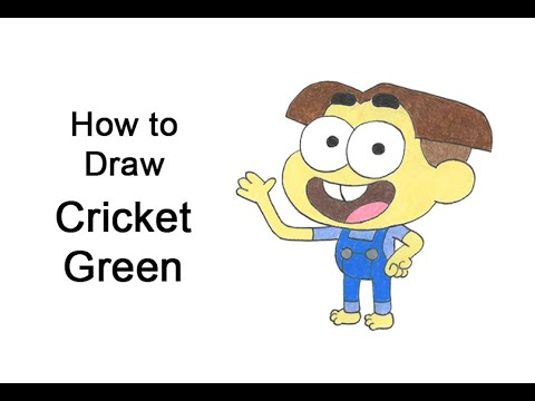 Come disegnare Cricket da I Greens in città (Big City Greens)