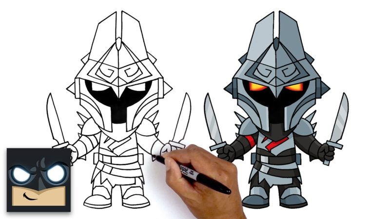 Come disegnare Eternal Knight di Fortnite