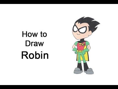Cómo dibujar a Robin (Teen Titans Go!)