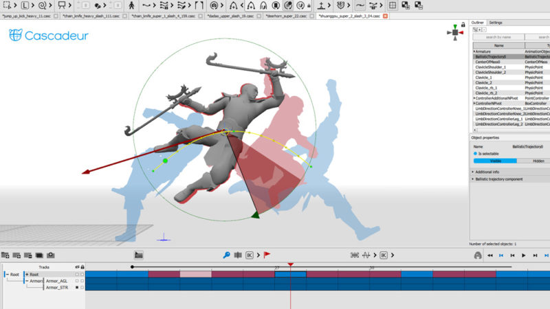 Nekki lanza el software de animación Cascadeur para uso comercial gratuito