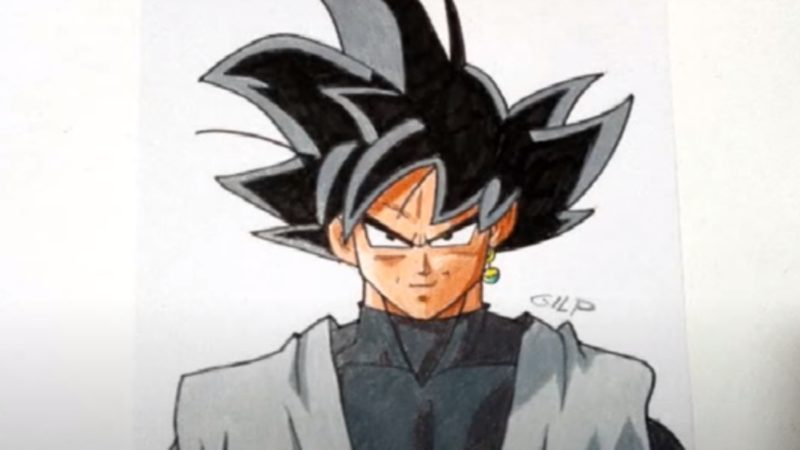 Come disegnare e colorare Black goku