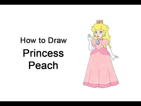 Come disegnare la Principessa Peach a matita passo passo