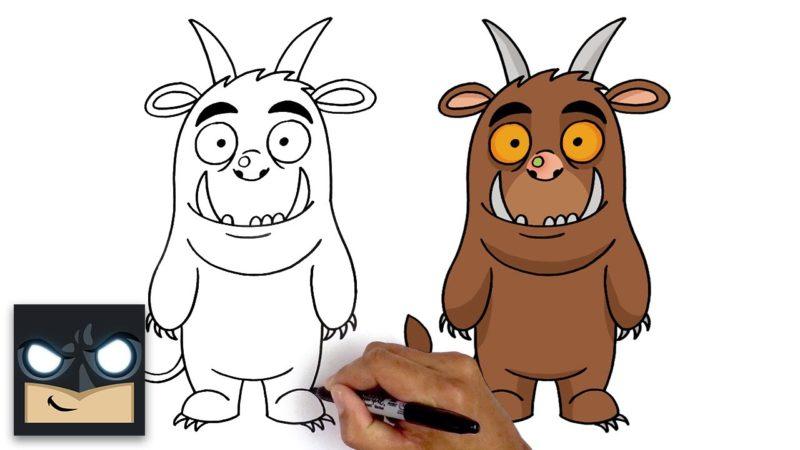 Come disegnare il Gruffalo | Tutorial passo dopo passo