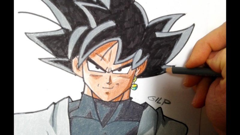 Come disegnare Black Goku passo dopo passo da Dragon Ball