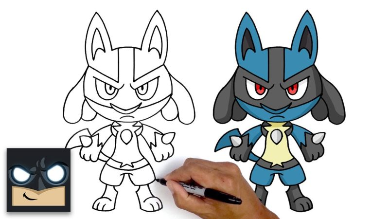Come disegnare Lucario | Pokemon