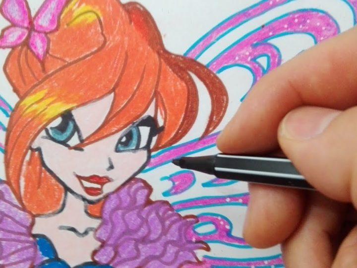 Come disegnare Bloom Butterflix da Winx Club
