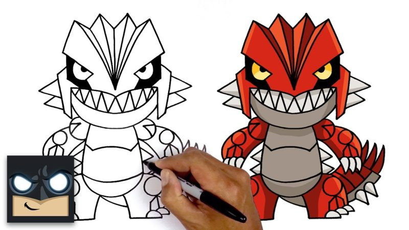 Hur man ritar Groudon | Pokémon