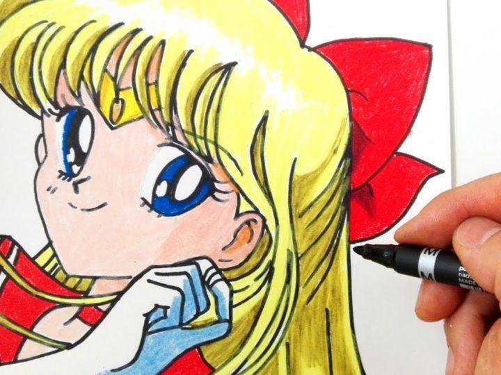Hoe Sailor Venus te tekenen van Sailor Moon