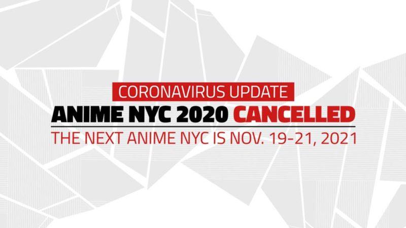Anime NYC peruutettiin koronaviruksen vuoksi, suunniteltu uudelleen vuodelle 2021