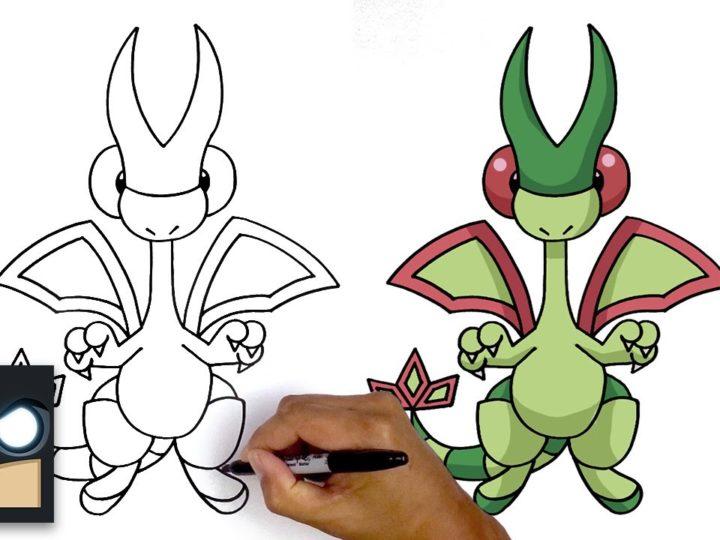 Как нарисовать Flygon | Покемон
