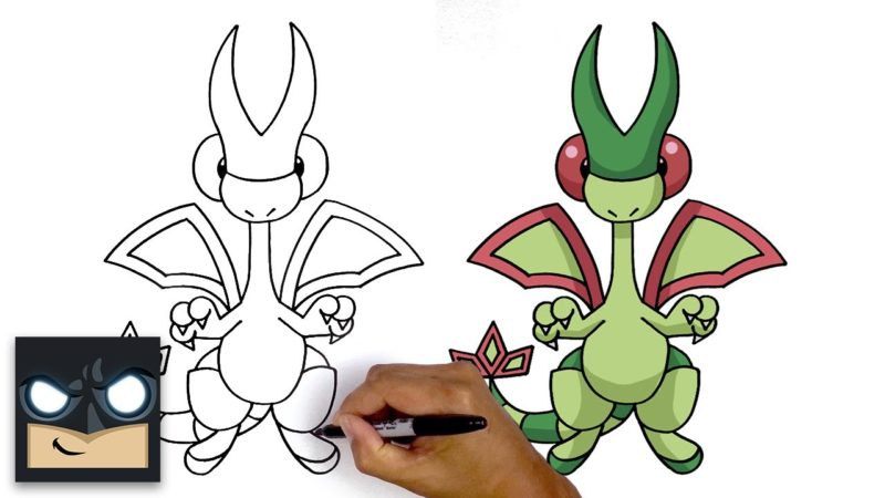 Come disegnare Flygon | Pokemon
