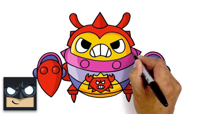 Cómo dibujar King Crab Tick | Estrellas de pelea