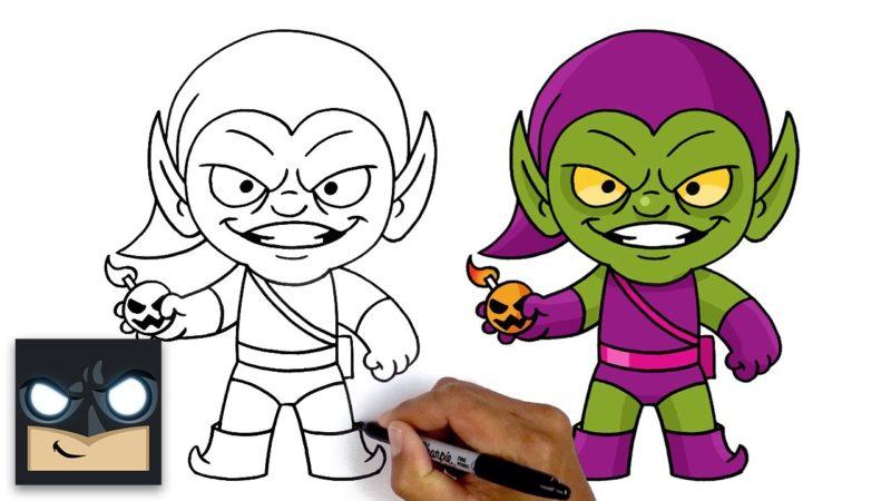Hur man ritar Green Goblin | Steg för steg handledning