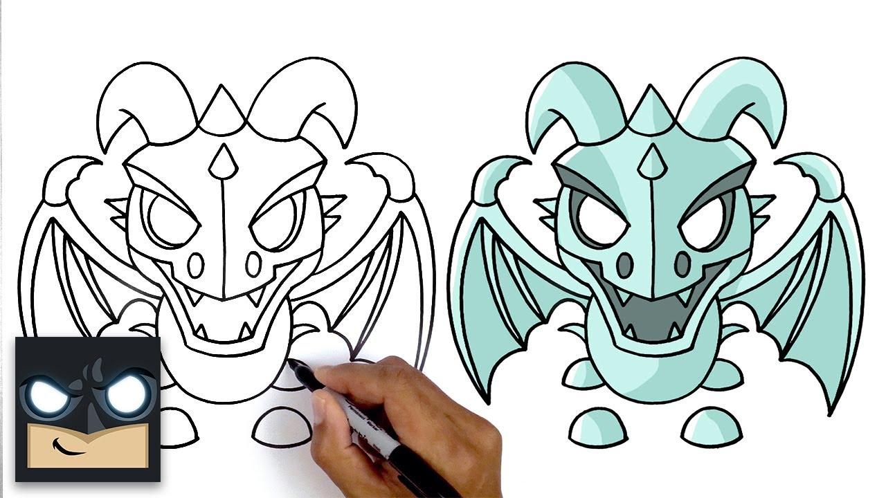 Come disegnare Frost Dragon   Roblox Adopt Me