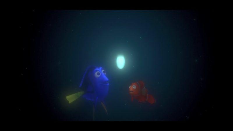 Dory og Marlin jager etter lyset Oppdrag Nemo