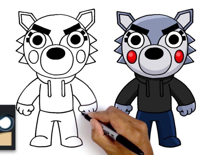 Hur man ritar Willow Wolf | Roblox Piggy Book 2