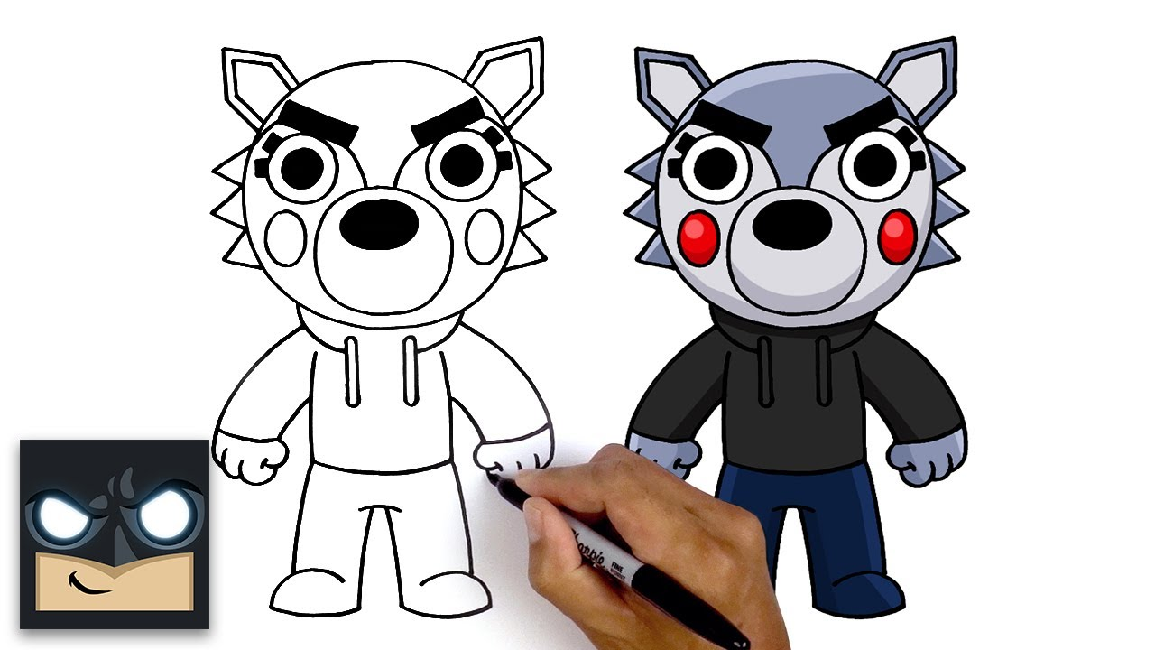 Come disegnare Willow Wolf | Roblox Piggy Book 2
