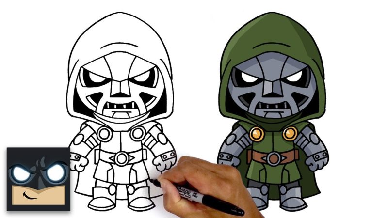 "Cómo dibujar ""Doctor Doom"" de Marvel's Fantastic Four"