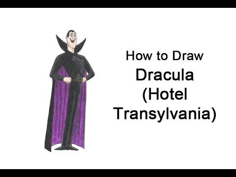 Come disegnare Dracula da Hotel Transylvania