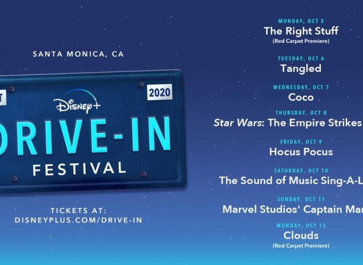 Il Disney + Drive-In Festival arriva a Santa Monica dal 5 al 12 ottobre