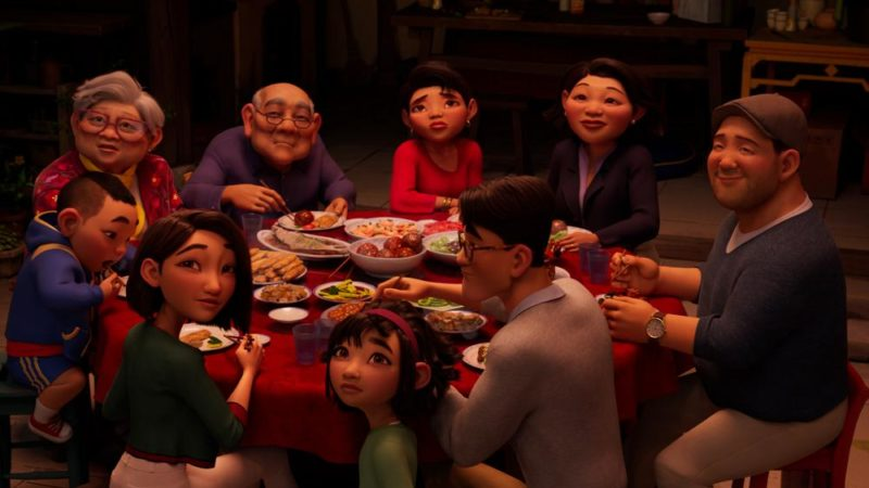 "Netflix pubblica un video clip per la cena in famiglia da ""Over the Moon"""