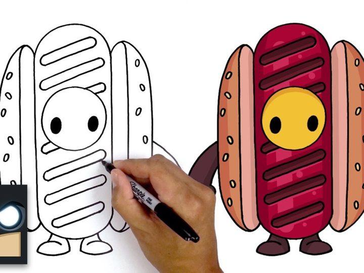 Hur man ritar Hotdog Skin från videospelet Fall Guys