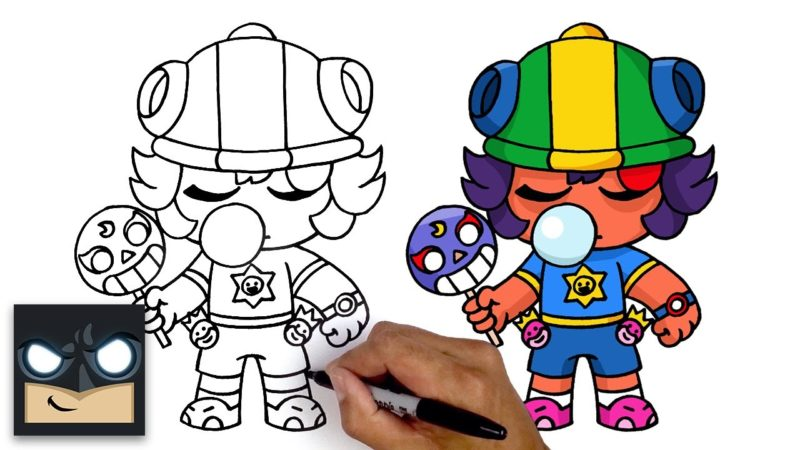 Como desenhar Sugar Rush Sandy do videogame Brawl Stars