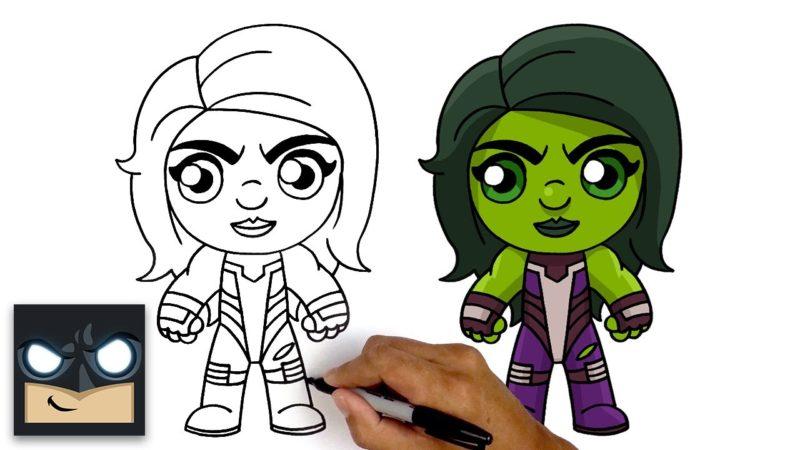 Come disegnare She Hulk nella versione Fortnite