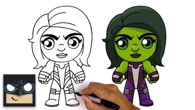 如何在Fortnite版本中绘制She Hulk