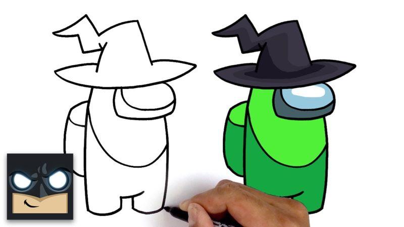 Jak narysować Czarownicę z gry wideo Among Us