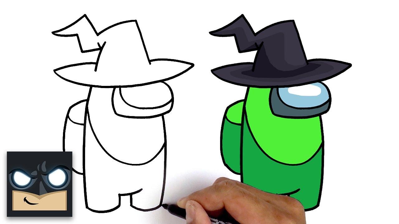 Come disegnare Witch del videogioco Among Us