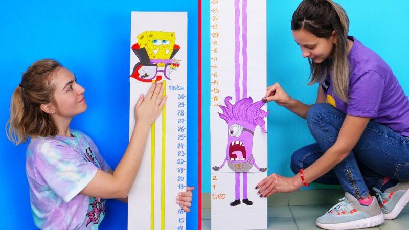 어린이의 키를 측정하는 귀여운 미터를 만드는 방법