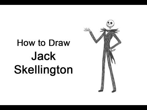 クリスマス前の悪夢からジャック・スケリントン(全身)を描く方法