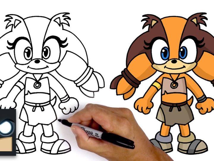 Cum să desenezi Sticks the Badger | Explozie sonica