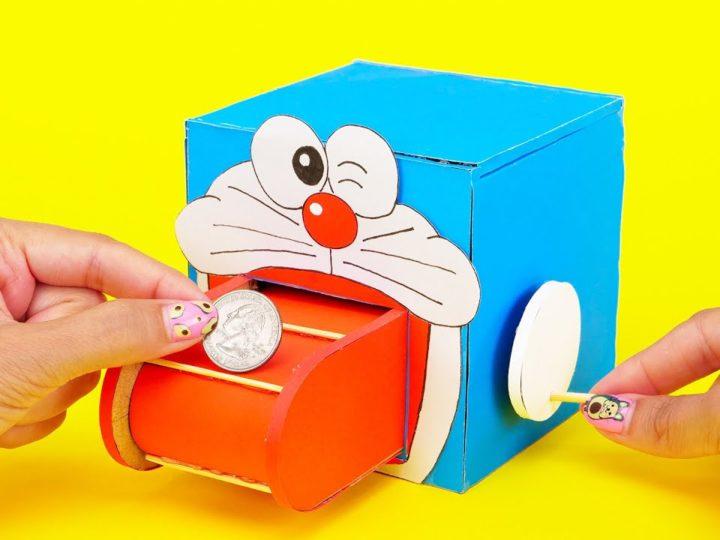 Cum să construiești o pușculiță drăguță cu rolă Doraemon