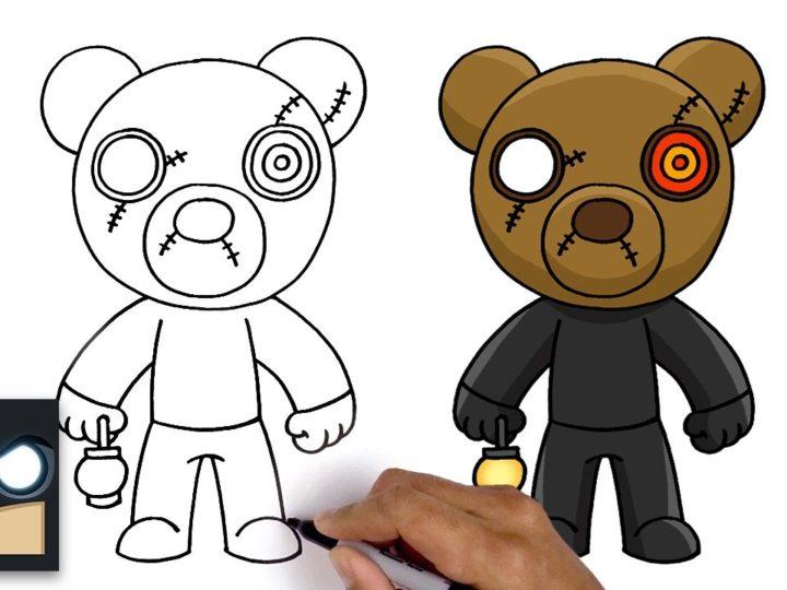 Comment dessiner M. Stitchy | Roblox Piggy