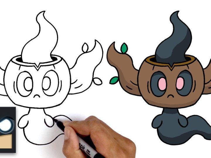 Come disegnare Phantump dei Pokemon