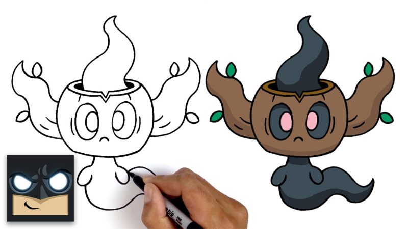 Come disegnare Phantump dei Pokemon