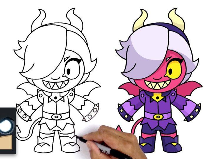Come disegnare Trixie Colette del videogioco Brawl Stars