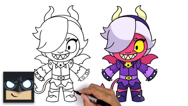 Hur man ritar Trixie Colette från videospelet Brawl Stars