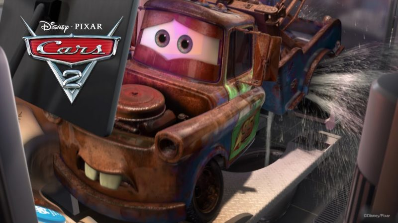 "Cars 2 video ""Ratchet y el baño japonés"""