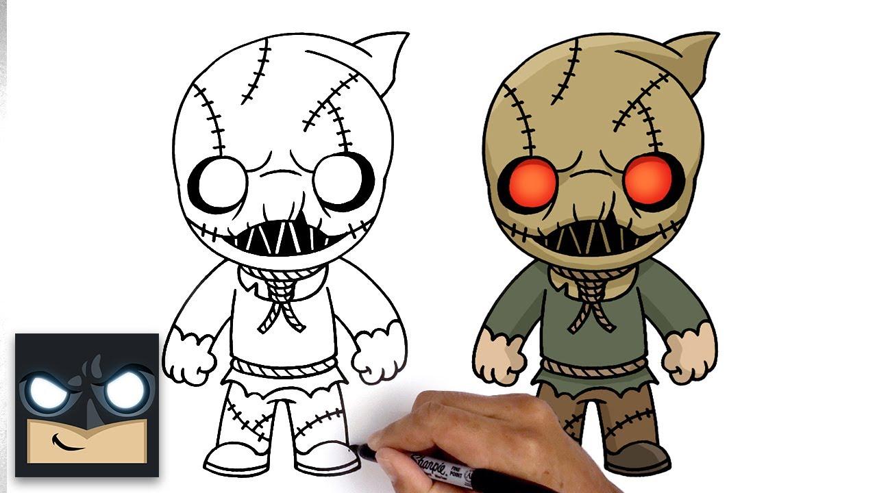 Come disegnare lo spaventapasseri (Scarecrow) di Batman