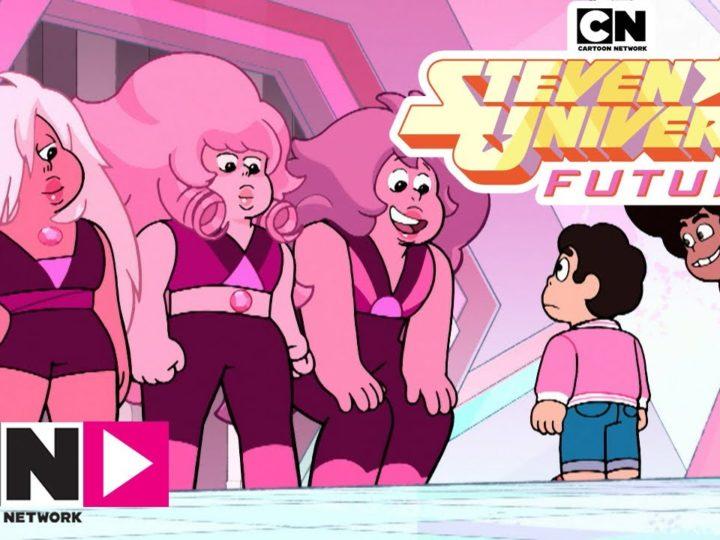 """Steven Universe Future's video """"Many Pink Quartz"""" van Cartoon Network Italia"""