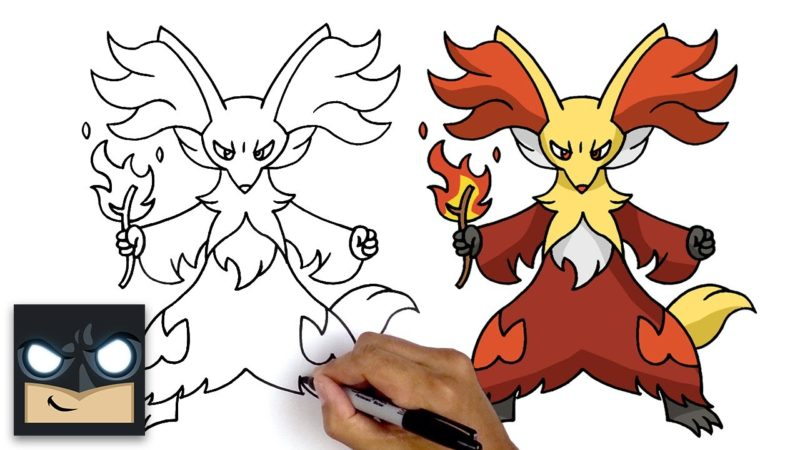 Comment dessiner Pokemon Delphox