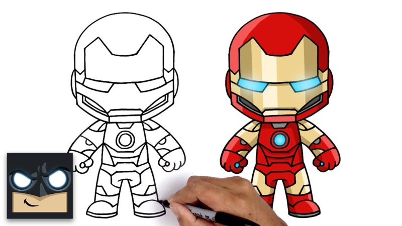Comment dessiner Iron Man | Légendes Marvel Fortnite