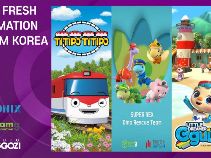Titipo Titipo, Super Rex e Little Dreamer Gguda – nuovi cartoni coreani