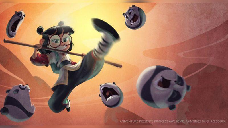 "Esikatselu kiinalaisesta animaatiosta ""Princess Awesome"""