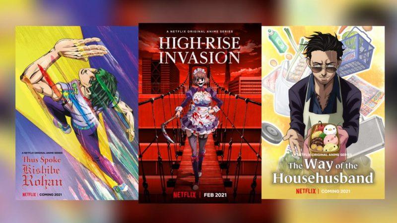Netflix aggiunge 5 anime e condivide le anteprime sui progetti principali