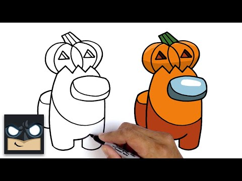 Come disegnare Pumpkin Crewmate di Among Us